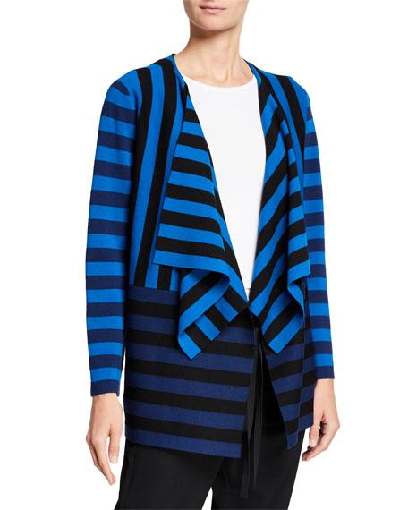 Akris punto Striped Milano Knit Cardigan