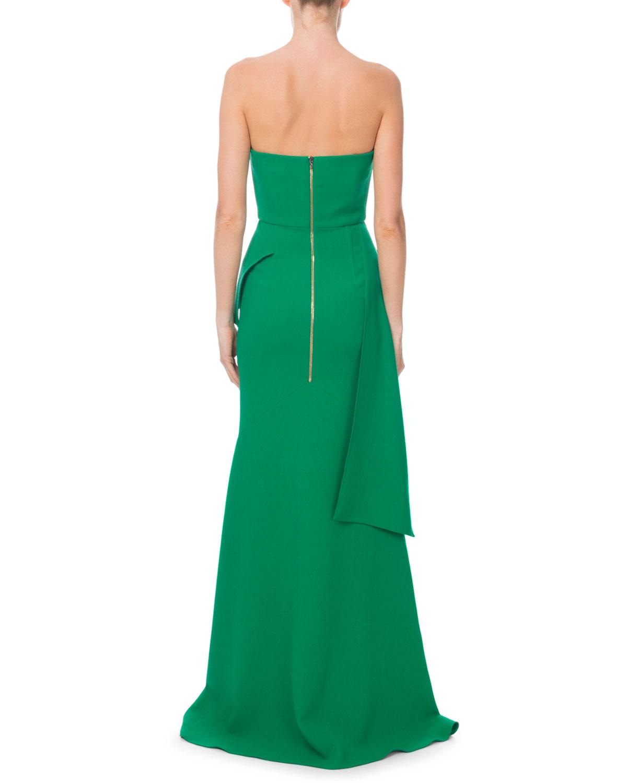 aaa496efcfc7 Roland Mouret Bond Strapless Sweetheart Peplum Gown | Neiman Marcus