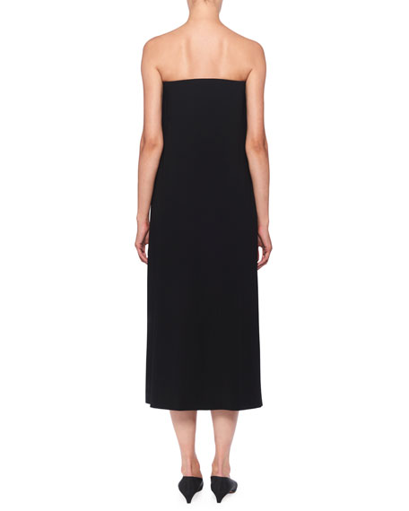 THE ROW Paola Strapless Midi Dress