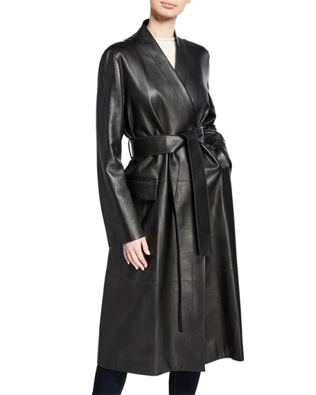 THE ROW Jumo Deerskin Trench Coat