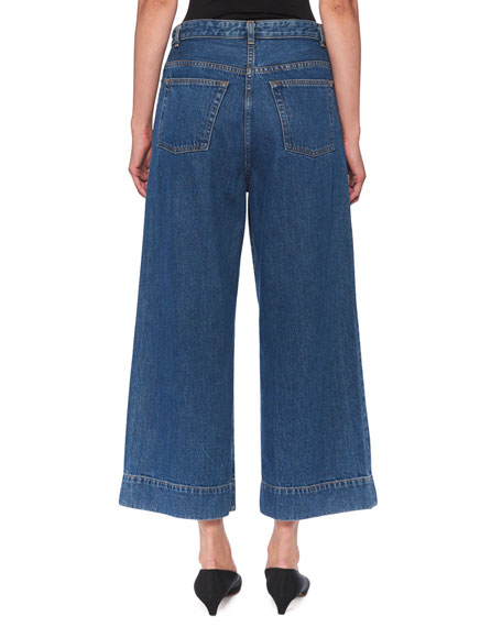 THE ROW Edna Mid-Rise Wide-Leg Jeans