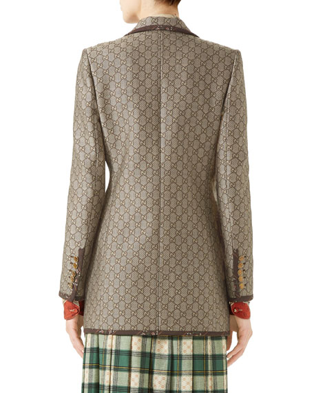Gucci Jacquard Wool-Canvas Jacket