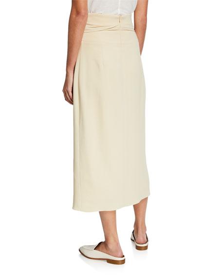 THE ROW Alina Sash Waist Midi Skirt