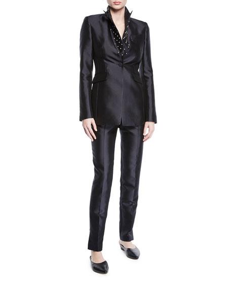 Gabriela Hearst Masto Wide-Leg Silk-Wool Pants
