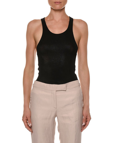 TOM FORD Scoop-Neck Glossy Tank Top
