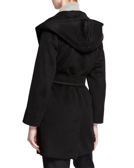 Maxmara Rialto Camel Hair Belted Short Hooded Coat