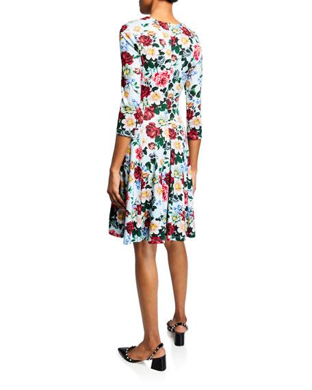 Erdem Dione Bracelet-Sleeve Dress