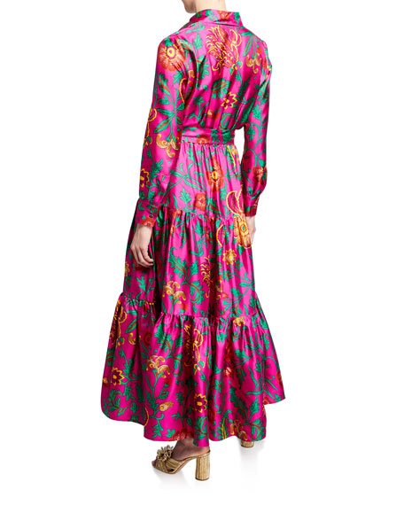 Double J Bellini Silk Shirtdress