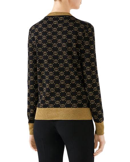 Gucci Long-Sleeve Fine-Wool Cardigan