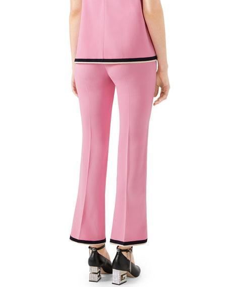 Gucci Lightweight Viscose Stretch Cady Boot-Cut Pants