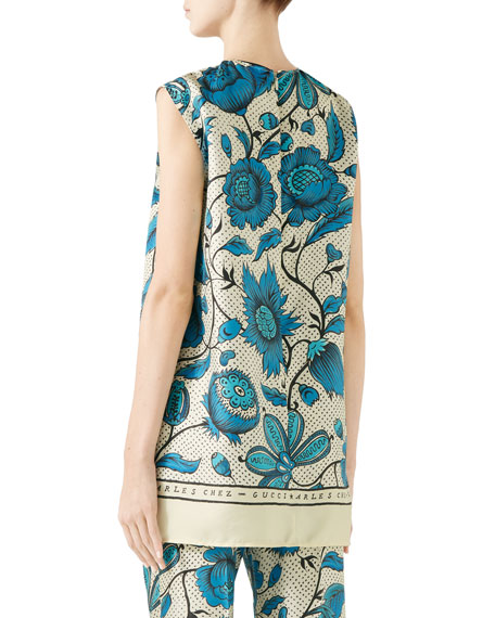 Gucci Sleeveless Maxi Alsacienne Print
