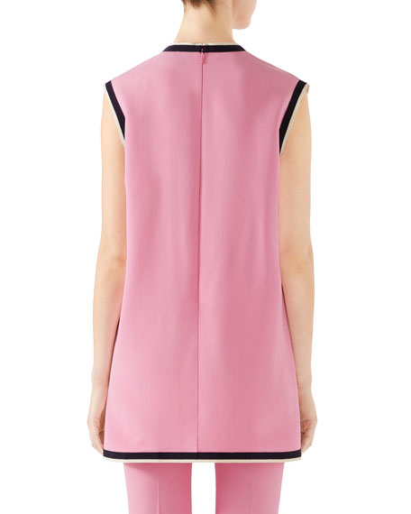 e09b81d7 Gucci Sleeveless Light Stretch Cady Tunic Top | Neiman Marcus