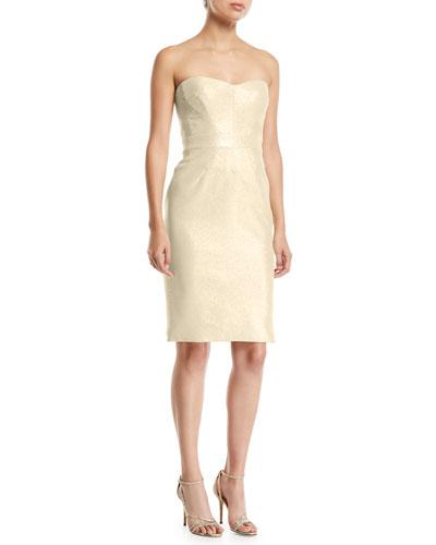Party Jacquard Knee Length Dress