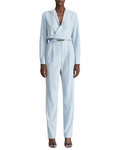 Judson Belted Luxury Wool Jumpsuit