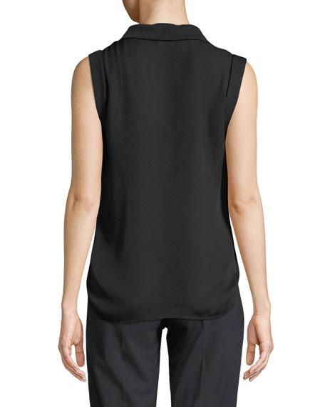 Emporio Armani Sleeveless Silk V-Neck Blouse