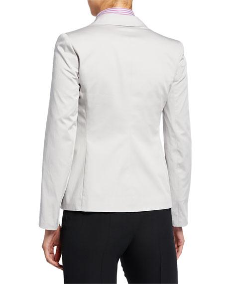 Emporio Armani Double-Breasted Stretch-Cotton Jacket