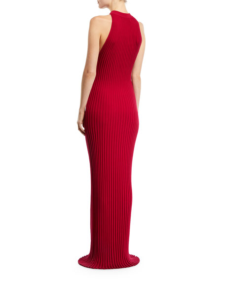 Gabriela Hearst Kira Sleeveless Ribbed-Knit Maxi Dress