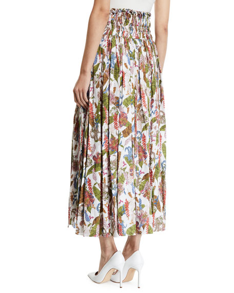 Gabriela Hearst Leonor Aloe Linen Tropical Skirt