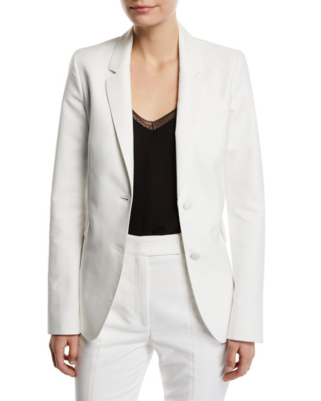 Image 1 of 2: Sophie Single-Breasted Cotton Blazer Jacket