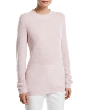 e1cb0d2d929b Gabriela Hearst Harius Fluffy Cashmere Silk Crewneck Sweater