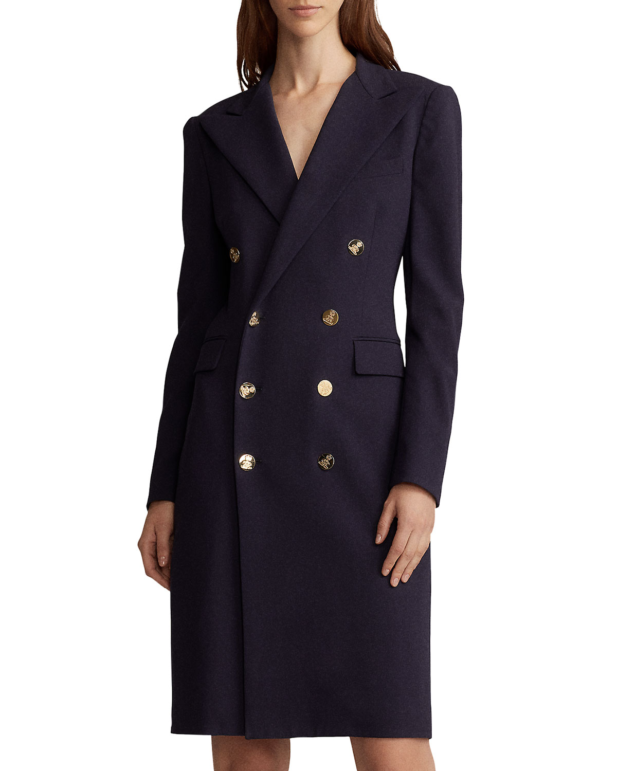 cd457b9edcb Ralph Lauren Collection Wellesley Double-Breasted Wool Coat Dress ...