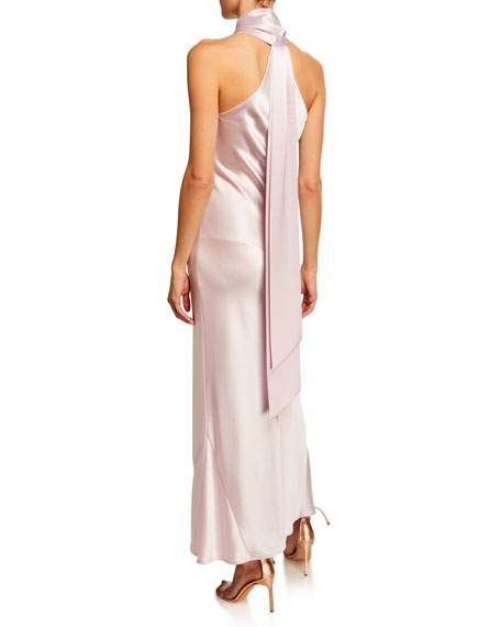 Galvan Pandora Heavy Silk Satin Cocktail Dress