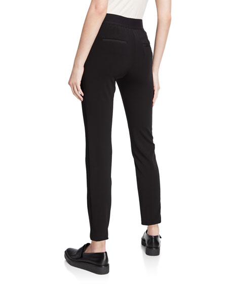 Emporio Armani Black Magic Straight-Leg Ankle Pants