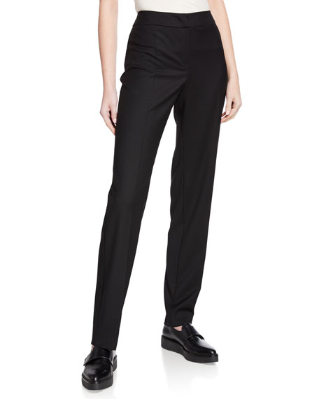 Emporio Armani Basic Stretch Wool Pants