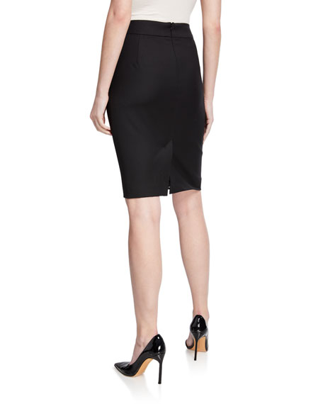 Emporio Armani Basic Stretch Wool Skirt
