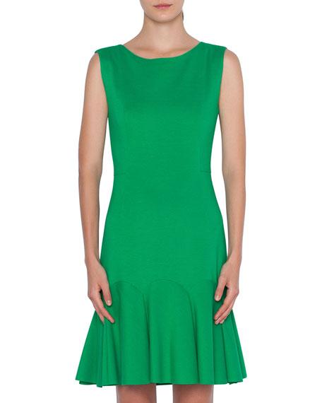 Akris punto Sleeveless Drop-Waist Crepe Dress