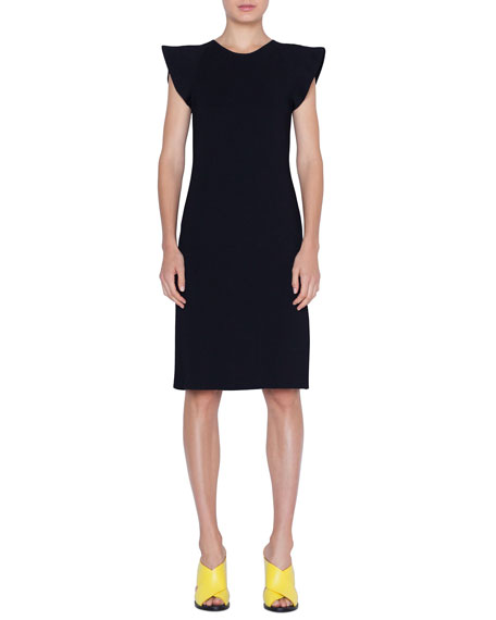 Akris punto Wave-Shoulder Knit Dress
