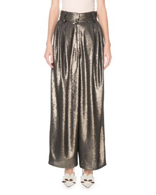 1e65b108043 Marc Jacobs High-Rise Wide Leg Sequined Dressy Trousers