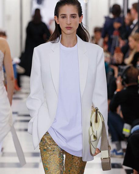 Marc Jacobs High-Rise Cummerbund Waist Denim Trousers