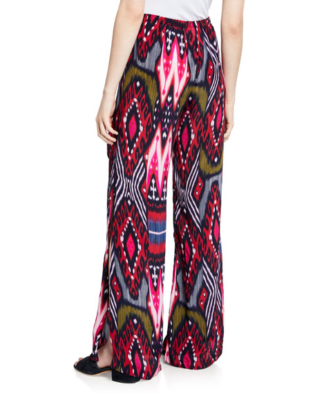 Figue Simone Ikat Striped Wide Leg Pajama Pants