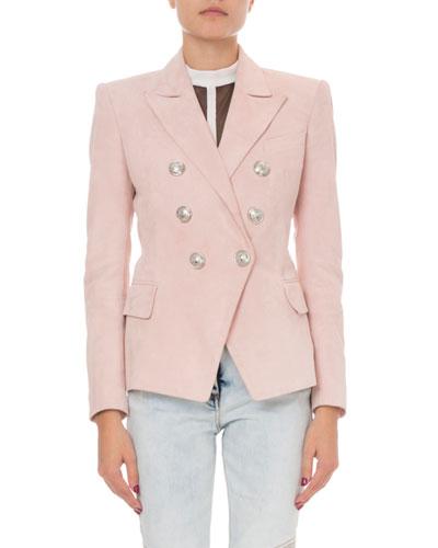 Classic Suede Blazer Jacket