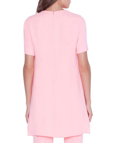 Akris Short-Sleeve Overlay Tunic