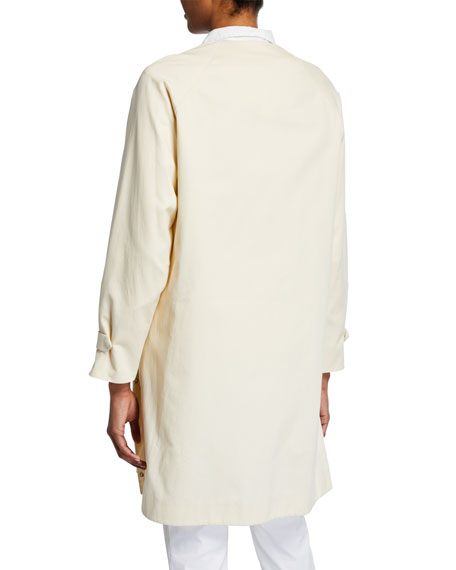 Akris Bago Magnet-Front Cotton Gabardine Coat