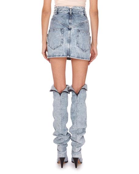Isabel Marant High-Rise Denim Mini Skirt