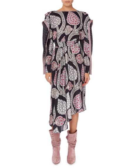 Isabel Marant Joella Asymmetric Open-Back Dress