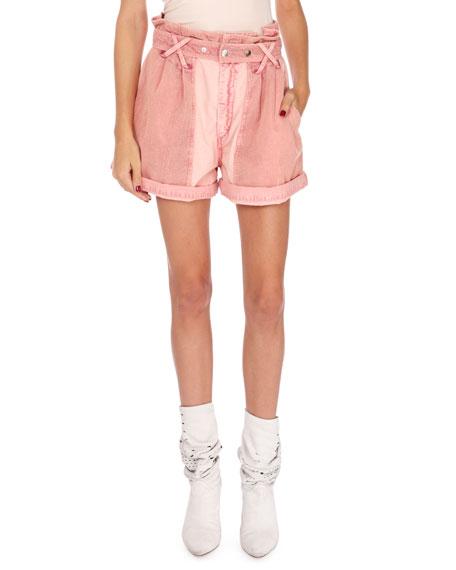 Isabel Marant Twen Patch-Pocket Cuffed Cargo Shorts