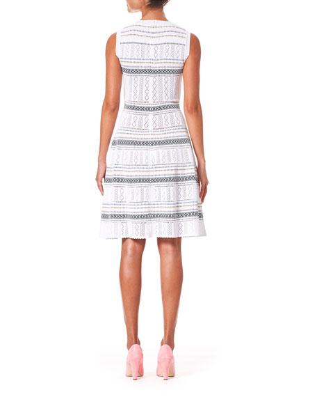 Carolina Herrera Sleeveless Knit Knee Length Dress