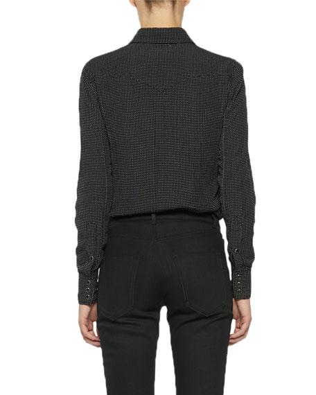 Saint Laurent Dotted Snap-Front Shirt