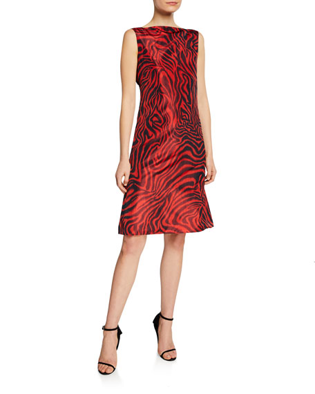 Calvin Klein 205w39nyc Dresses ANIMAL-PRINT SLEEVELESS V-BACK DRESS