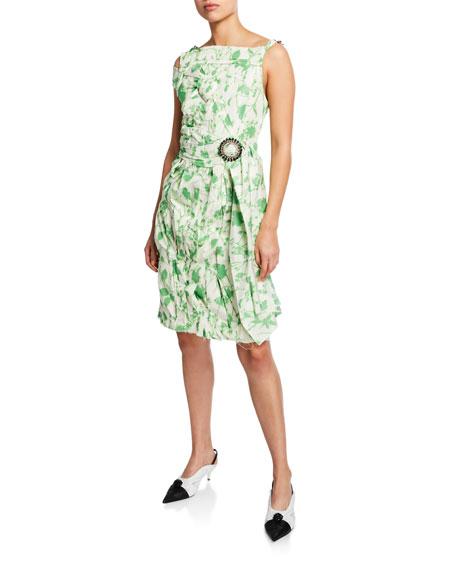 Calvin Klein 205w39nyc Dresses SLEEVELESS CRUSHED FLORAL TAFFETA DRESS