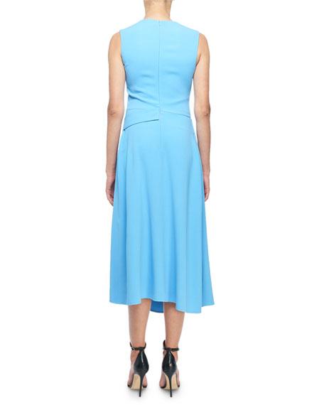 Victoria Beckham Sleeveless Belted Midi Dress