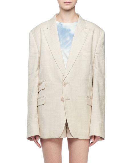 Stella McCartney Linen Boyfriend Blazer Jacket