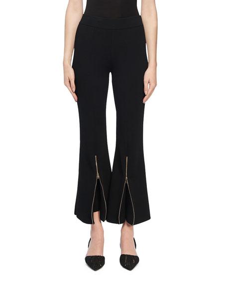 Stella McCartney Knit Zip-Flare Trousers