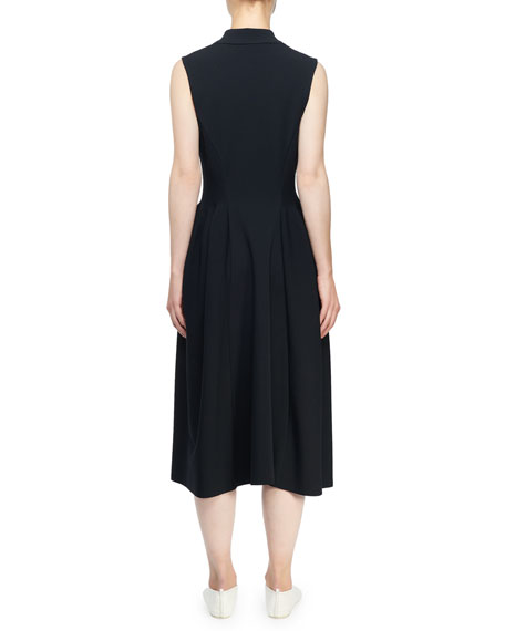 Stella McCartney Sleeveless Knit Tux-Collar Dress