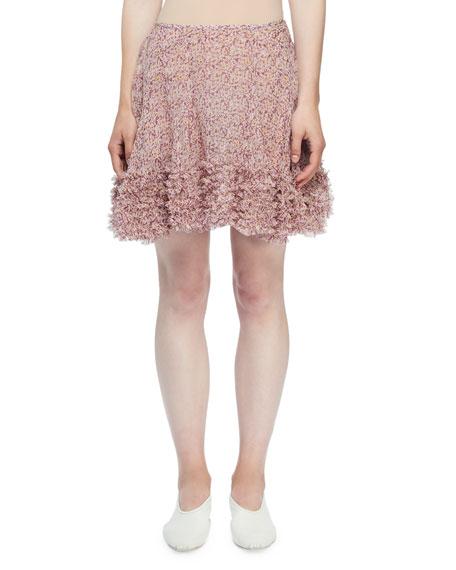 Stella McCartney Ditzy Floral Crinkled-Silk Mini Skirt