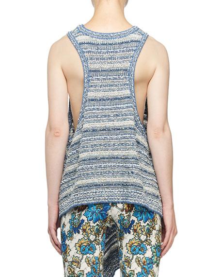 Stella McCartney Chunky Textured-Stitch Racerback Sweater